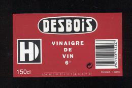 Etiquette  De Vinaigre De Vin  6°  -  Desbois  à  Reims  (51) - Etiquettes