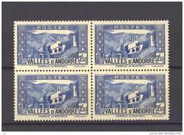 Andorre  :  Yv  87  **       Bloc De 4 - Andorre Français