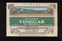 Etiquette  De Vinaigre Balsamic  -  Italie - Etiquettes