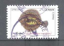 France Autoadhésif Oblitéré (Poissons De Mer - Turbot) (cachet Rond) - Frankrijk