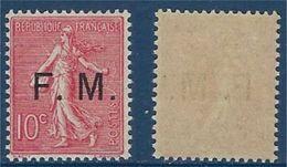 "FR Franchise YT 4 "" Semeuse Lignée 10c. Rose Surch. "" 1906-07 Neuf** - Franchise Stamps"