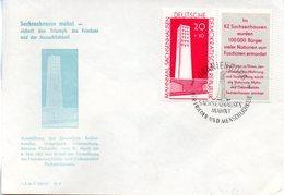 """(DDR-B1) DDR Sonder-Umschlag """"Sachsenhausen Mahnt"""" EF Mi 783, SSt.23.4.61 ORANIENBURG - Storia Postale"""