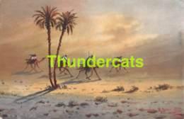 CPA EGYPT EGYPTE ILLUSTRATEUR SANDSTORM  IN THE DESERT LEHNERT & LANDROCK - Egypte