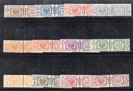 BIG - REGNO 1927 , Serie Di Pacchi Postali N. 24/35  */* - Paketmarken