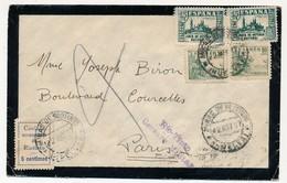 ESPAGNE - Enveloppe Recommandée 1937 Depuis RIO-TINTO - Vignettes Et Censures - 1931-Aujourd'hui: II. République - ....Juan Carlos I