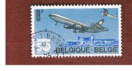 BELGIO (BELGIUM)   - SG 2311  - 1973  SABENA ANNIVERSARY: AIRPLANES   - USED3 - Belgio