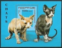 1997Cambodia 1723/B228Cats - Hauskatzen