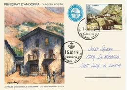Entier Postal. Casa Basté  Andorra La Vella, Années 1900's, De La Viguerie Episcopal, Andorra La Vella - Entiers Postaux & Prêts-à-poster