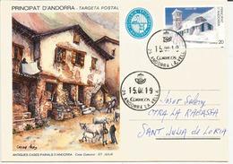 Entier Postal. Casa Comunal Sant Julia (Mairie) Années 1900's, De La Viguerie Episcopal, Andorra La Vella - Lettres & Documents