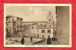 PS54---MARIANOPOLI ( CL ), PIAZZA GARIBALDI---CARTOLINA VIAGGIATA 1958-------2 SCANS - Caltanissetta