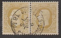 N° 32 Gosselies-Courcelles  1881 Paire - 1869-1883 Léopold II