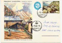 Entier Postal. Casa Riberaygua. Santa Coloma. , Années 1900's. Andorra Le Vella - Lettres & Documents
