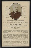 ADEL NOBLESSE, SOUVENIR MORTUAIRE CHARLES LOUIS JOSSELIN DE ROHAN CHABOT, DU DE ROHAN, 1819-1893, HERTOG - Devotion Images