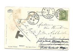 5 Ct  Van DUDZEELE + Brugge 1921 Naar Herstal Lez Liège Doorgestuurd Poste Restante ARRAS (Fr) Taxe..zegel Weg - 1915-1920 Albert I