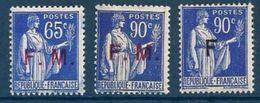 """FR Franchise YT 8  à 10 """" Série Paix """" 1937-39 Neuf* - Franchise Militaire (timbres)"""