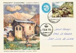 Entier Postal. Casa Rossell. Ordino. , Années 1900's. Andorra Le Vella - Entiers Postaux & Prêts-à-poster