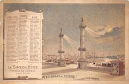 Vieux Papiers    Saxoléine   Calendrier 1 Er Trim 1896. Bordeaux    14.5x11 Cm (voir Scan) - Calendriers