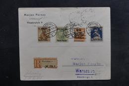 POLOGNE - Enveloppe En Recommandé De Warschau En Port Local En 1919 , Affranchissement Plaisant - L 36488 - ....-1919 Provisional Government