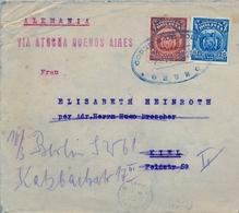 1926 BOLIVIA , SOBRE CIRCULADO , ORURO - KIEL , REDIRIGIDO , VIA ATOCHA BUENOS AIRES , TRÁNSITO - Bolivia