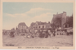 Bv - Cpa LARMOR PLAGE - La Plage (Edit. Gretener - Rivière Bureau) - Larmor-Plage