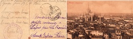 """CP- MILANO- Cachet:  """" Base Française D' Italie """"- - Marcophilie (Lettres)"""