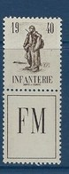 """FR Franchise YT 10A """" Dyptique Infanterie """" 1940 Neuf** - Franchise Militaire (timbres)"""