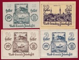 Autriche 4 Notgeld Stadt Peuerbach Dans L 'état Lot N °136 - Autriche