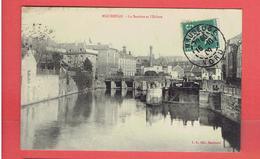 MAUBEUGE 1909 LA SAMBRE ET L ECLUSE CARTE EN BON ETAT - Maubeuge