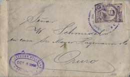 1898 BOLIVIA , SOBRE CIRCULADO , COCHABAMBA - ORURO , YV. 49 - BERNARDO MONTEAGUDO , SERIE BÁSICA - HOMBRES DE ESTADO - Bolivia