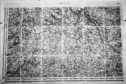 CARTE ETAT MAJOR TOILEE DE LIMOGES S. O. De 1854, Révisée En 1892 - Geographical Maps