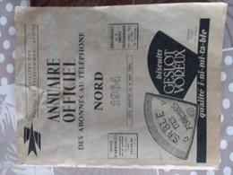 Annuaire Officiel Des Abonnés Au Téléphone 59 NORD 1964 - Annuaires Téléphoniques