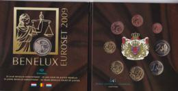 2009 - Benelux - Pays Bas - Belgique - Luxembourg -  24 Piéces + 1 Médaille - Luxemburg