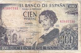 Banconote  SPAGNA   -   100      Cien Pesetas 1965 - 1-2 Pesetas