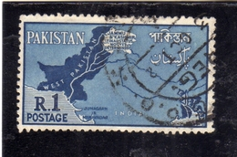 PAKISTAN 1960 DISPUTED BORDER AREAS WITH INDIA 1r USED USATO OBLITERE - Pakistan