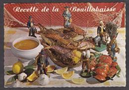 95344/ RECETTE, La Bouillabaisse, Recette En Vers Signée E. Bernard, Ed Lyna, Recette N° 17 - Recettes (cuisine)