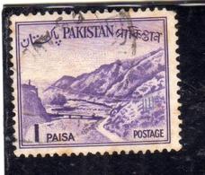 PAKISTAN 1961 1963 LANDSCAPE KHYBER PASS 1p USED USATO OBLITERE - Pakistan