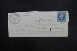 FRANCE - Lettre De Fay-le-Froid Pour Belley En 1866, Affranchissement Napoléon , GC 1475 ( Bon Indice) - L 36501 - Poststempel (Briefe)