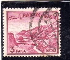 PAKISTAN 1961 1963 LANDSCAPE KHYBER PASS 3p USED USATO OBLITERE - Pakistan