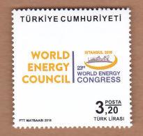 AC - TURKEY STAMP  -  23th WORLD ENERGY CONGRESS MNH 09 OCTOBER 2016 - 1921-... République