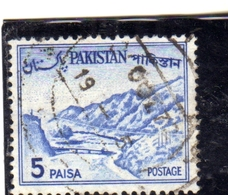 PAKISTAN 1961 1963 LANDSCAPE KHYBER PASS 5p USED USATO OBLITERE - Pakistan