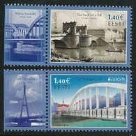 "ESTONIA/ ESTLAND/ EESTI/ ESTONIE -EUROPA 2018 -TEMA ANUAL -""PUENTES.- BRIDGES - BRÜCKEN - PONTS"" - SERIE De 2 V.- B - 2018"