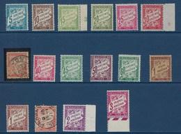"""FR Taxe YT 28 à 42A Ss 39  """" Type Duval """" 1893-1935 Neuf**/*/oblitéré - Taxes"""