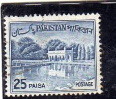 PAKISTAN 1961 1963 LANDSCAPE SHALIMAR GARDENS LAHORE 25p USED USATO OBLITERE - Pakistan