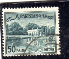 PAKISTAN 1961 1963 LANDSCAPE SHALIMAR GARDENS LAHORE 50p USED USATO OBLITERE - Pakistan