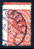 Mi. 278 Privat Gezähnt (L 11 1/2) Randstück Gestempelt - 1918-1945 1a Repubblica
