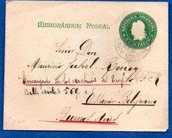 Argentine - Entier Postal  -  Buenos Aires - Entiers Postaux