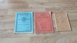 Lot Cahiers Scolaires Et Livret De Cantonnier Année 1930 En L'état Sur Les Photos - Lots De Plusieurs Livres