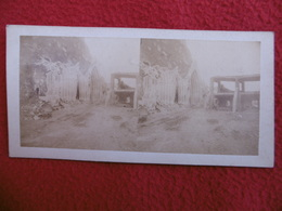 ITALIE BOMBARDAMENTO E PRESA DE GAETA PHOTO EUGENE SEVAISTRE STEREO CIRCA 1860 C S M - Places