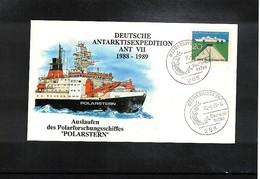 Germany / Deutschland 1988 German Antarctica Expedition Interesing Cover - Antarktis-Expeditionen