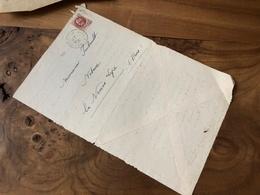 171/ TYPE BERSIER 1F50 BRUN SUR LETTRE - Old Paper
